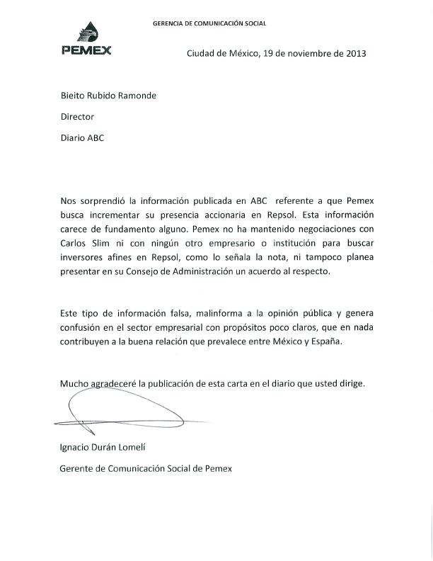 formato de carta oficial